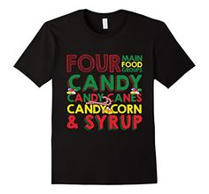 Candy Candy Canes Candy Corn And Syrup T-shirt