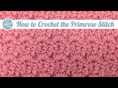 Crochet Stitch The Primrose Stitch Might Be The Prettiest Stitch I've Seen…See For Yourself! – Crafty House - The Primrose Stitch Might Be The Prettiest Stitch I've Seen. Picot Crochet, Crochet Gratis, Crochet Motifs, Crochet Stitches Patterns, Tunisian Crochet, Crochet Chart, Knit Or Crochet, Learn To Crochet, Easy Crochet
