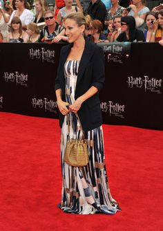 Sarah Jessica Parker in Salvatore Ferragamo Blazer and Oscar de la Renta Gown at the Harry Potter Premiere