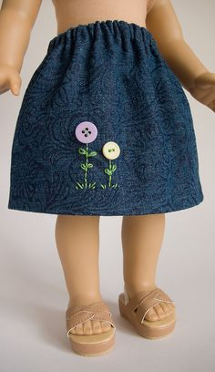 American Girl 18 Inch Doll Clothes Embroidered and by PattiKuz