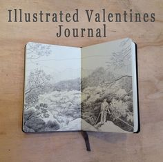 Illustrated Valentines Journal style