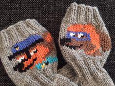 Langanluomaa: Ryhmä Hau -sukat Fair Isle Knitting, Knitting Socks, Knitted Hats, Knit Socks, Mittens, Knit Crochet, Knitting Patterns, Winter Hats, Beanie