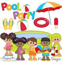 Pool Party SVG-MTC-PNG plus JPG Cut Out Sheet(s) Our sets also include clipart in these formats: PNG & JPG