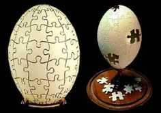 Puzzle egg carving