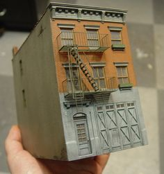 1/87 scale dioramas in a 1'x1' format
