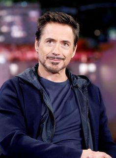 Handsome and funny Robert Downey Jr.