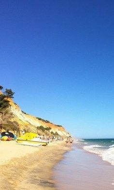The Pine Cliffs HOtel in the Algarve, Portugal is located on one of the most beautiful stretches of beach. Great for a dose of Portuguese summer!