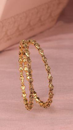 Gold Ring Designs, Gold Bangles Design, Gold Earrings Designs, Gold Jewellery Design, Gold Jewelry, Beaded Jewelry, Silver Earrings, Jewlery, Gold Bracelet For Girl