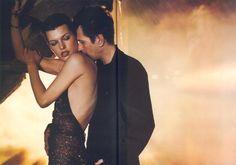Milla Jovovich and Gary Oldman for Donna Karan Fall 2000