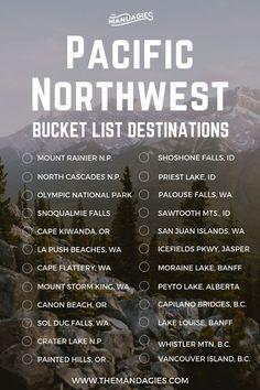 pnw travel bucket list