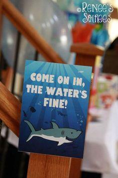 Shark Party via Kara's Party Ideas