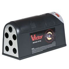Victor® Electronic Rat Trap - A quick, humane way to kill rats with a high-voltage shock! Kills 50 rats per set of batteries! I love Victor® traps because they work! Rat Control, Best Pest Control, Pest Control Services, Electronic Pest Control, Rat Traps, Bees And Wasps, Pest Solutions, Mouse Traps, Pest Management