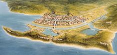 A vision of Troy according to ancient sources, 1200 BCE.