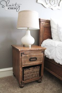 Hey guys! I am so excited to finally have nightstands in my bedroom! We haven't had them in our room in about 1 1/2 years so it really feels life changing Here they are! I wanted to design them to match the bed that I built for our bedroom and wanted at least one drawer. {...Read More...}