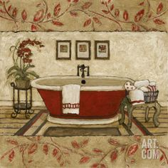 Crimson Moment I Art Print by Charlene Winter Olson at Art.com