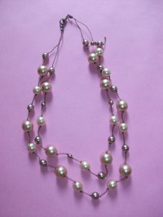 Costume Faux Pearl Necklace for Repair M179 by MICSJWL on Etsy, $5.00