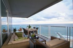 Beach front apartment with a beautiful terrace