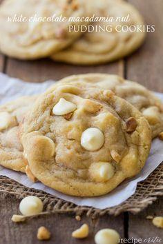 White Chocolate Macadamia Nut Pudding Cookies