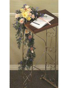 Guest Book Church Decorations - Church Wedding Flowers