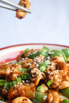 easy cashew chicken final cashew