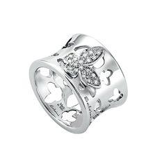 Anello in oro bianco con diamanti 20033426