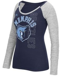 adidas Women's Memphis Grizzlies Liquid Dots T-Shirt - Blue L
