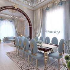 all idea inspiration design interior and exterior home modern decor Elegant Dining Room, Luxury Dining Room, Dining Room Design, Luxury Living, Dining Area, Dining Rooms, Classic Interior, Luxury Interior, Interior Design