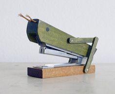 vintage grasshopper stapler - hilarious!