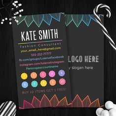 Vertical Lularoe Punch Cards Free Fast Personalize Home Office