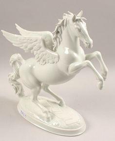 "Design: Prof. Herbert Schwarz ""Pegasus"", 1961, Porzellan Manufaktur Augarten Wien"