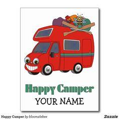 Gelukkige Kampeerauto Briefkaart