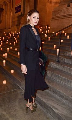 Olivia Palermo arrives to the Montblanc UNICEF Gala Dinner at the New York Public Library on April 3 2017 in New York City
