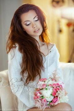 Олеся Гавриш - свадебная флористика и декор - Утро невесты и свадебный букет из пионов и роз