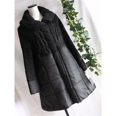 メルカリ商品: 【新品】0756【L】ウール調×スムース上質暖か中綿入りコート 黒 #メルカリ