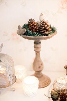 Christmas decoration | Anastasiya Belik Photography | http://burnettsboards.com/2013/12/christmas-bridal-shower/