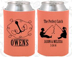 The Perfect Catch, Custom Wedding Favors, Fisherman Wedding, Fishing Wedding, Hunting Wedding, Fisherman Gifts,  Wedding Favor Koozies (532)