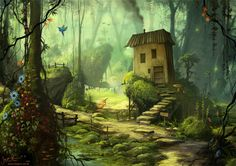 A Home in the Green by jerry8448.deviantart.com on @deviantART