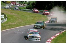 1993. DTM. Nurburgring. Mercedes power with the amazing 190 Evo II.