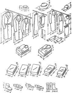 Габариты одежды и белья Wardrobe Design Bedroom, Bedroom Wardrobe, Wardrobe Closet, Master Closet, Ideas De Closets, Small Closets, Dressing Room Closet, Dressing Room Design, Storage Design