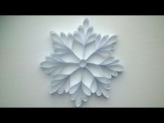 How To Make A Paper Snowflake - DIY Crafts Tutorial - Guidecentral - YouTube