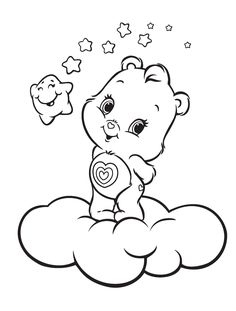 Baby Care Bears Coloring Pages Kids