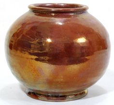 pewabic pottery | 071002: PEWABIC POTTERY COPPER LUSTER GLAZE VASE