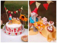 τουρτα για παιδικο παρτυ στην εξοχη - A Fall Gnome Birthday Party Cake