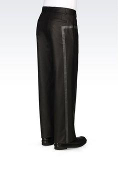 IDEA/NOTE : pattern style -- RUNWAY TROUSERS IN STRETCH FLANNEL: Pants Men by Armani