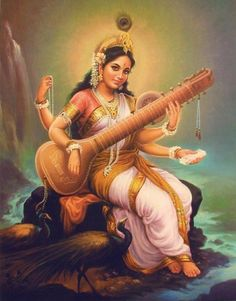 Saraswati Maa - is the Hindu Goddess of knowledge, music, arts and science. She…