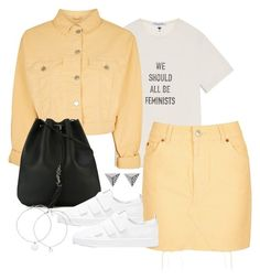 """""""Untitled #4293"""" by theeuropeancloset on Polyvore featuring Topshop, Yves Saint Laurent and Ileana Makri"""