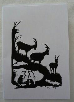Fine Paper, Paper Art, Paper Crafts, Alpine Ibex, Alpine Style, Wood Burning Art, Diy Cardboard, Paper Cutting, Cut Paper