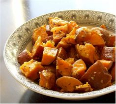 Thyme Roasted Sweet Potatoes - gluten free, dairy free, egg free, soy free, and nut free