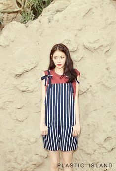 Gong Seung Yeon is the latest starlet to endorse the fashion brand Plastic Island for their 2016 summer collection. The lovely model/actress showed off her good looks while showing off lifestyle photo set. Korean Actresses, Asian Actors, Actors & Actresses, Asian Fashion, Fashion Beauty, Gong Seung Yeon, Sulli, Park Shin Hye, Korean Entertainment