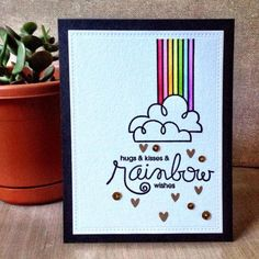 Rainbow Wishes by jamieruthp - Cards and Paper Crafts at Splitcoaststampers